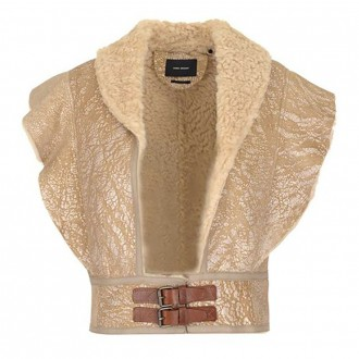 Alixa Shearling Crop Vest