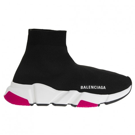 Sneakers Speed Black And Fuchsia