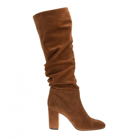 Light Brown Suede Leather Boot