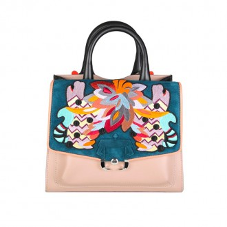 ALEX LEATHER BAG EMBROIDERY MULTICOLOR