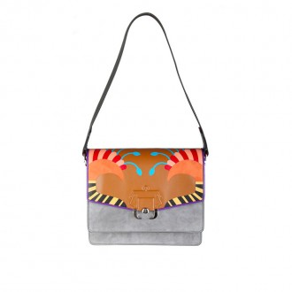 BAG TWIGGY IN LEATHER MULTICOLOR