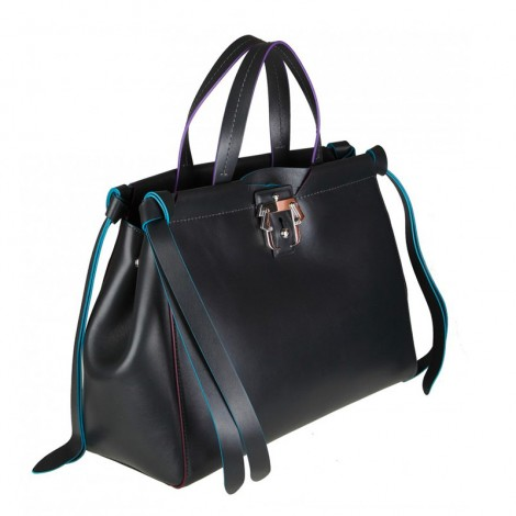 SHOPPING RACHEL IN ANTHRACITE COLORED LEATHER