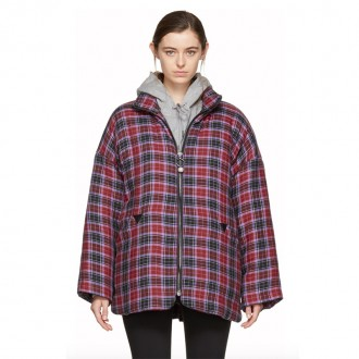 Mulitcolor Flannel Duvet Coat