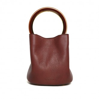 Pannier Small bi-color leather bag