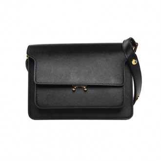 Trunk Medium saffiano-leather shoulder bag