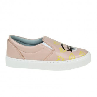 SLIP-ON FLIRTING IN PINK COLORED LEATHER