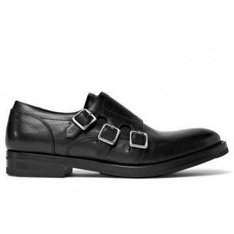 Full-Grain Leather Monk-Strap Shoes