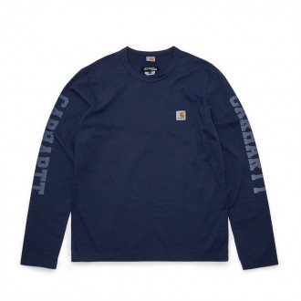 x Carhartt Navy and White T-Shirt