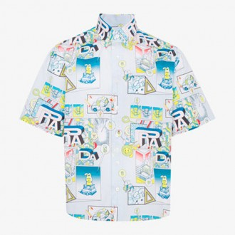 Comic Print Cotton Shirt