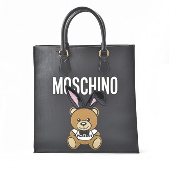 BLACK 'TEDDY PLAYBOY' TOTE BAG