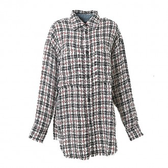 NAVY AND RED BUTTON-DOWN PLAID SHIRT