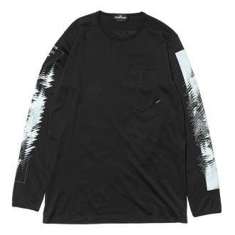 Mako Jersey Garment Dyed LS T-Shirt Black