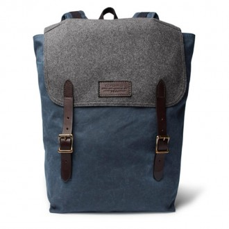 Ranger Leather-Trimmed Twill Backpack