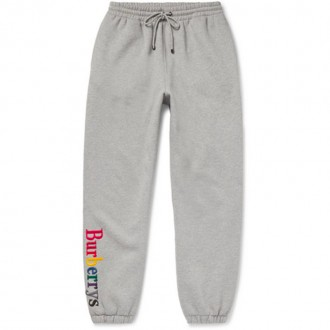 Appliquéd Mélange Fleece-Back Cotton-Blend Jersey Sweatpants