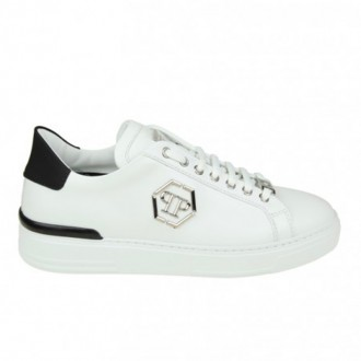 SNEAKERS CARIBOU IN WHITE LEATHER WHIT LOGO APPLIED
