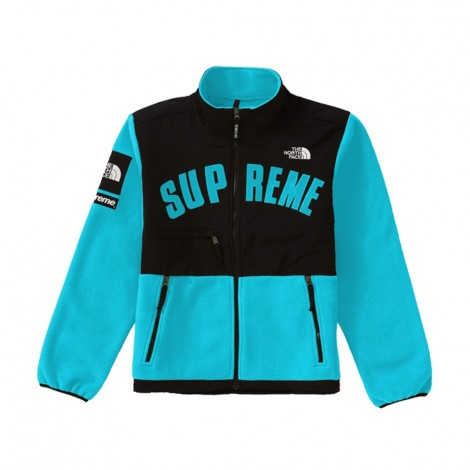 The North Face Arc Logo Denali Fleece Jacket Teal