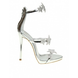 HARMONY STAR SANDAL IN SILVER MIRROR PATENT