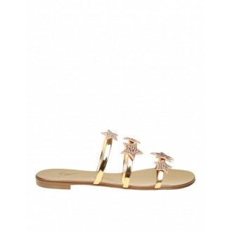 ANYA STAR SLIPPERS IN PINK GOLD PAINT