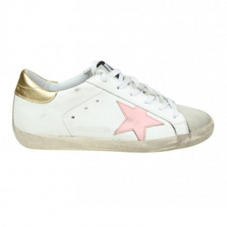 SNEAKERS SUPERSTAR IN WHITE LEATHER WITH STAR PINK