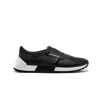 Onesoul Black leather sneaker