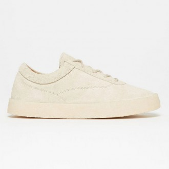 Chalk Thick Shaggy Suede
