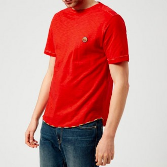 Men's Small Logo T-Shirt - Red