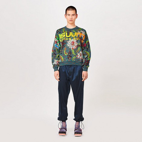 BLOOM SPACE DYED JACQUARD SWEATER