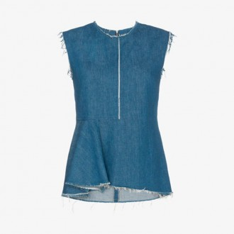 Colia Sleeveless Denim Top