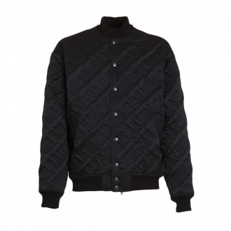 Quilted All-over Logo Bomber