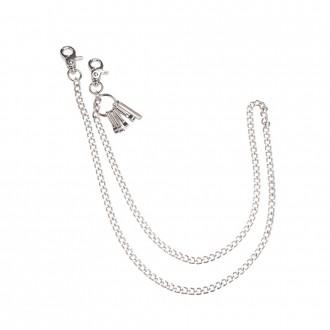 Silver Metal Chain keyring