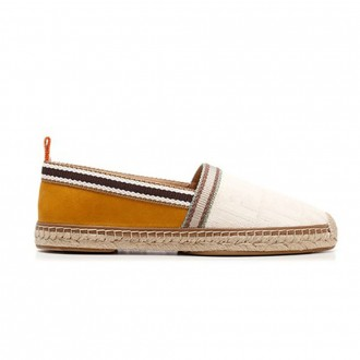 Cotton And Suede Espadrilles