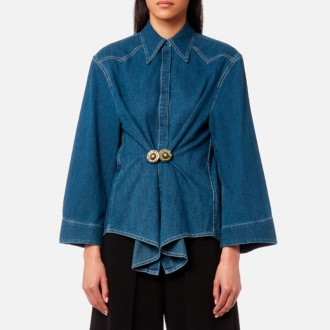 Women's Denim Shirt - Medium Blue