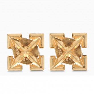 Gold-colored Arrows Earrings