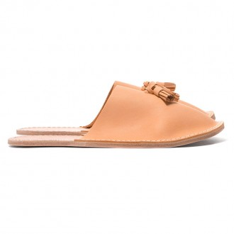 Leather Slipper Natural
