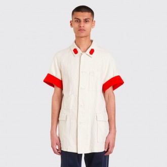 FOLDED CUFFS OVERSHIRT IVORY