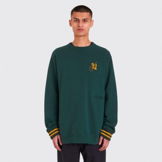 LOGO EMBROIDERY SWEATSHIRT DARK GREEN
