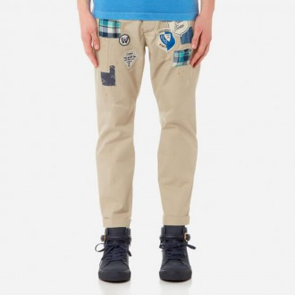 Men's Hockney Fit Chinos with Patches - Stone