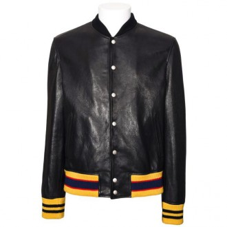 Leather Bomber Tiger Patch