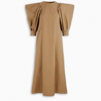 Long Dress With Puffed Sleeves