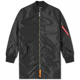 ALPHA INDUSTRIES MA-1 TT LONG BOMBER Black