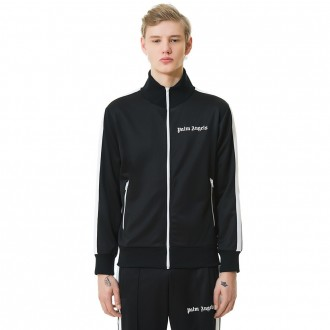 Palm Angels track jacket black white