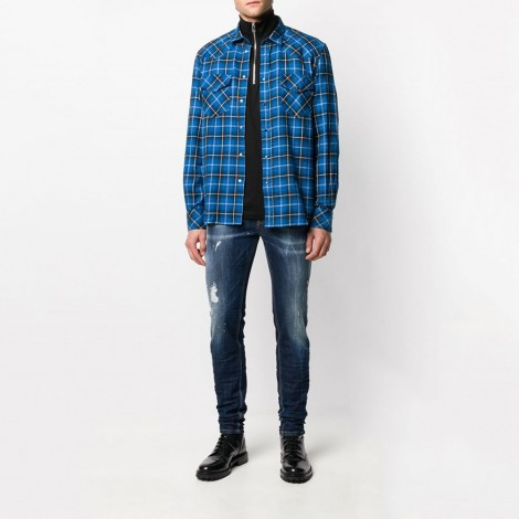 Check Flannel Western Shirt