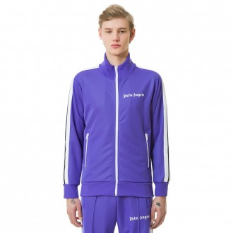 Palm Angels track jacket lilac white