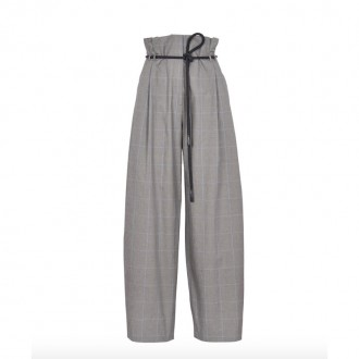 Checked palazzo trousers