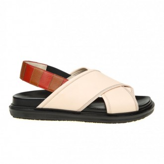 SANDAL IN WHITE LEATHER