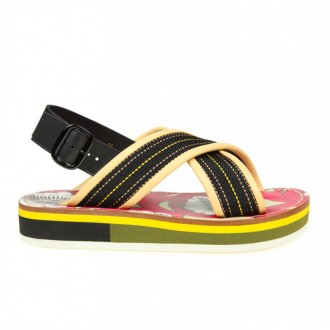 SANDAL WITH MULTICOLOR CROSS BAND