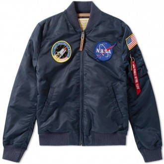 ALPHA INDUSTRIES MA-1 VF NASA JACKET REPLICA BLUE