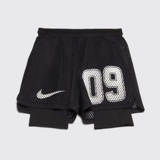 X OFF-WHITE FOOTBALL SHORTS BLACK