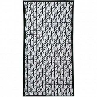 Beach Towel With All-over Logo Print