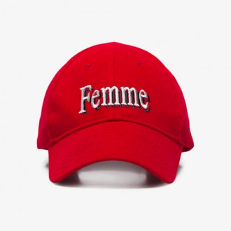 Red Femme Embroidered Baseball Cap
